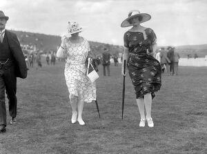 Lady Mainwaring ( right ) and Mrs Loeffler at Glorious Goodwood Racecourse, West Sussex