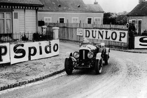 Le Mans 1929 The winning Speed Six Bentley Old Number 1 at Pontlieu