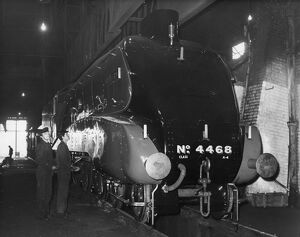 The Mallard , the fastest train in the world , at Nine Elms astation