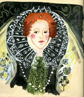 Michaela Gall - tudor portrait paintings Queen Elizabeth I