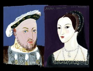 Michaela Gall - tudor portrait plates King Hewnry VIII and Queen Anne Boleyn