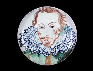 Michaela Gall - tudor portrait plates William Shakespeare