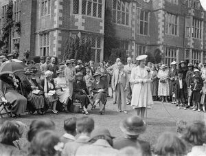 Mr and Mrs Morris Wheeler and Miss F Tomphis at the Horton Kirby fete held at Franks Hall