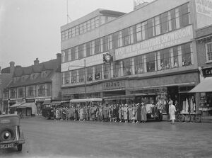 Outting at the Hinds department store on the High Street in Eltham, London 17 June 1937