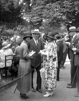 Princess Theodora of Greece (left), Lord Portarlington and Lady Zia Wernher, attending