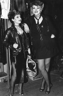 Punks - 1980s - fashion, women, punk, vintage stills photographic library archive 80s