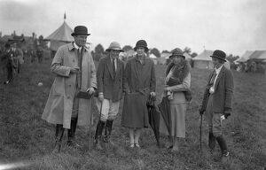 Rutland County Show at Oakham. Mr Hilton Green, ( Master of Foxhounds ), Miss Anne Wilson