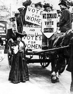 Suffragette demonstration. 21st May 1906