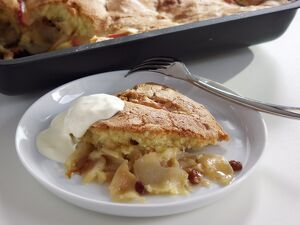 Traditional English baked apple dessert credit: Marie-Louise Avery / thePictureKitchen