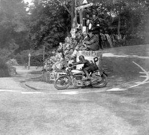 T.T. Races in Isle Of Man - British Isles - J Guthrie on ' Norton &quot