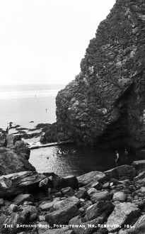 The Bathing Pool, Porthtowan, Cornwall. Around 1920s
