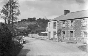 Bridge and street, Ladock, Cornwall. Around 1918