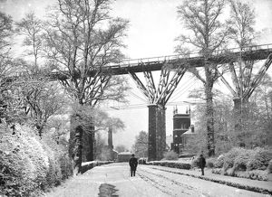 Brunel's Carvedras Viaduct, St George's Road, Truro, Cornwall. Around 1890