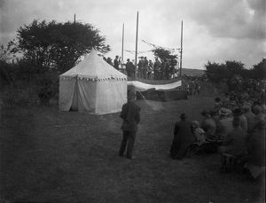 Bugle band contest, Bugle, Cornwall. Probably 1909