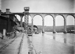 Calstock viaduct, Cornwall. After 2nd March 1908