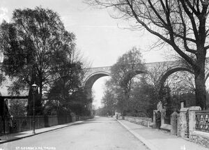 Carvedras Viaduct, St Georges Road, Truro, Cornwall. After 1902