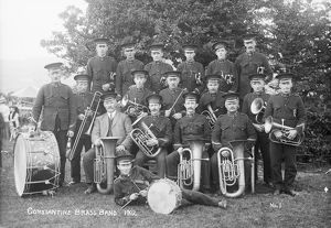 Constantine brass band, Cornwall. 1912