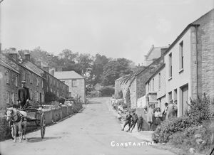 Constantine Churchtown, Cornwall. Early 1900s