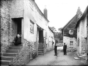 Cottages, St Mawes, Cornwall. 1901