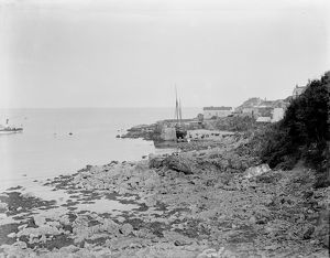Coverack harbour, Cornwall. Early 1900s
