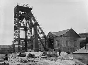 Dolcoath Mine, Camborne, Cornwall. Early 1900s