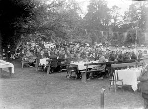 Ex-servicemen at Nansawsen, Ladock, Cornwall. August 1919