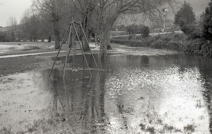 Flooding, Coulson Park, Lostwithiel, Cornwall. 28th December 1979