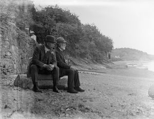 The foreshore, Malpas, Cornwall. Early 1900s