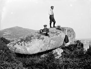The Giant's Stone, Zennor, Cornwall. 1911.