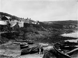 The Harbour, Coverack, Cornwall. 1908