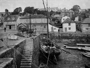 The harbour, St Mawes, Cornwall. 3rd June 1912