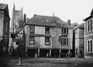 The King of Prussia Inn, Fowey, Cornwall, pre 1886