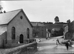 Ladock village, Cornwall. Early 1900s