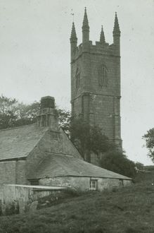 Lanlivery Church tower, Cornwall