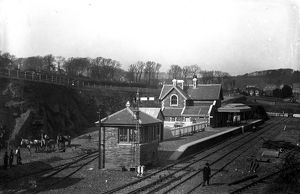 Laying gravel before the opening of Padstow railway station. Pre March 1899