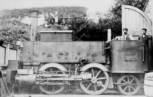 Locomotive 'Smelter' on the Redruth and Chacewater line, Cornwall. After 1854