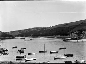 Mouth of the River Lerryn, Fowey, Cornwall. Photographer A. W. Jordan, c.1910.