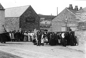 Obby Oss, New Street, Padstow, Cornwall. 1900s