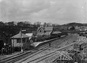 Opening of Padstow station, Padstow, Cornwall. 27th March 1899