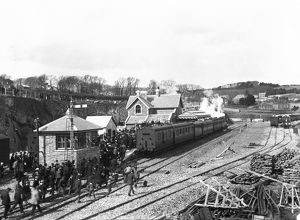 Padstow railway station, Cornwall. 27 March 1899