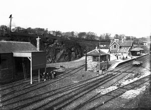 Padstow railway station, Cornwall. Around 27th March 1899