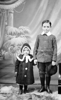 Portrait of boy and girl, Chacewater, Cornwall. 1911