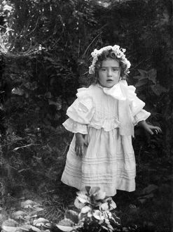 Portrait of little girl, Grampound, Cornwall. Early 1900s