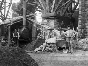 Replacing Brunel's Carvedras Viaduct, Truro, Cornwall. Around 1890s