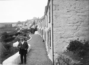 The road leading to Penhallick, Coverack, Cornwall. Early 1900s