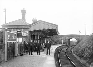 St Agnes railway station, Cornwall. Early 1900s