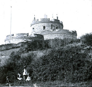 St Mawes Castle, Cornwall. Around 1900