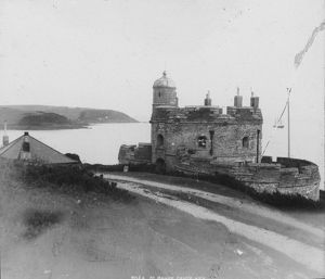 St Mawes Castle, Cornwall, from the road.