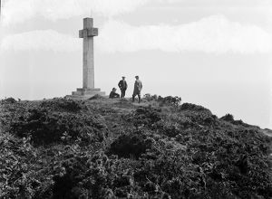 The stone cross at Dodman Point Cornwall. 7th June 1909
