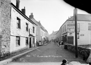 A street scene in Flushing, Cornwall